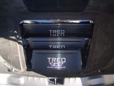 Close-up of TREO SSX Amplifiers