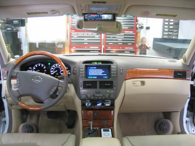 Oem Lexus Navigation Retained With Custom Mounted Clarion Pro Audio Cd Player And Sirius Satellite Radio