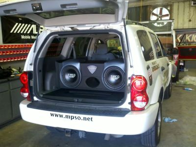 Dodge Durango Patrol Vehicle with custom stereo from Suncoast Sound & TREO Engineering
